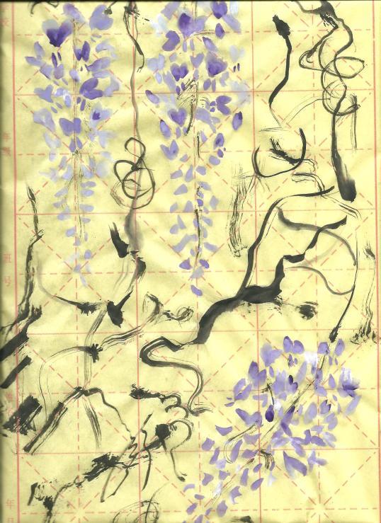 pittura su carta di riso 001